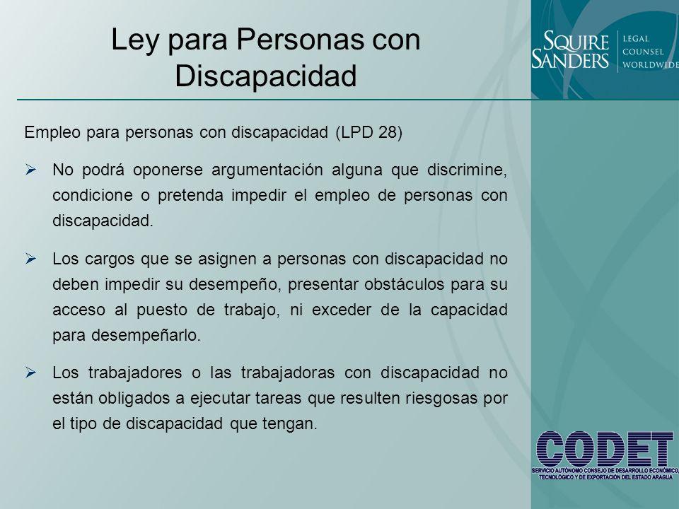 Ley para Personas con Discapacidad
