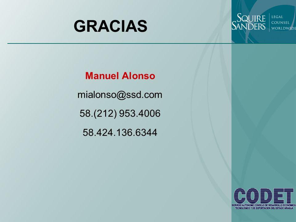 GRACIAS Manuel Alonso mialonso@ssd.com 58.(212) 953.4006