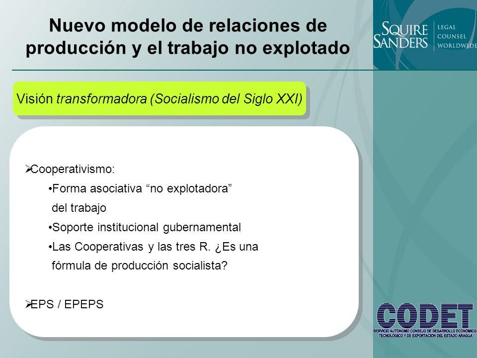 Nuevo modelo de relaciones de producción y el trabajo no explotado