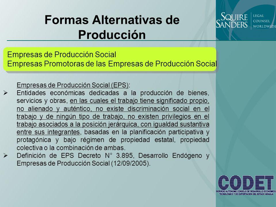 Formas Alternativas de Producción