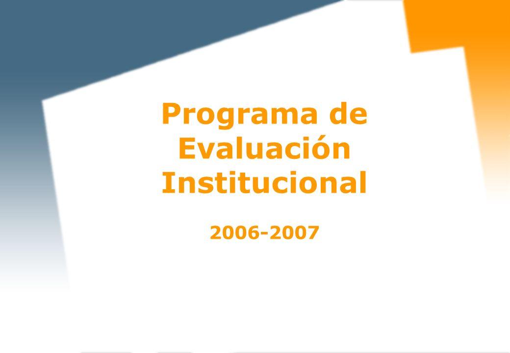 Programa de Evaluación Institucional 2006-2007