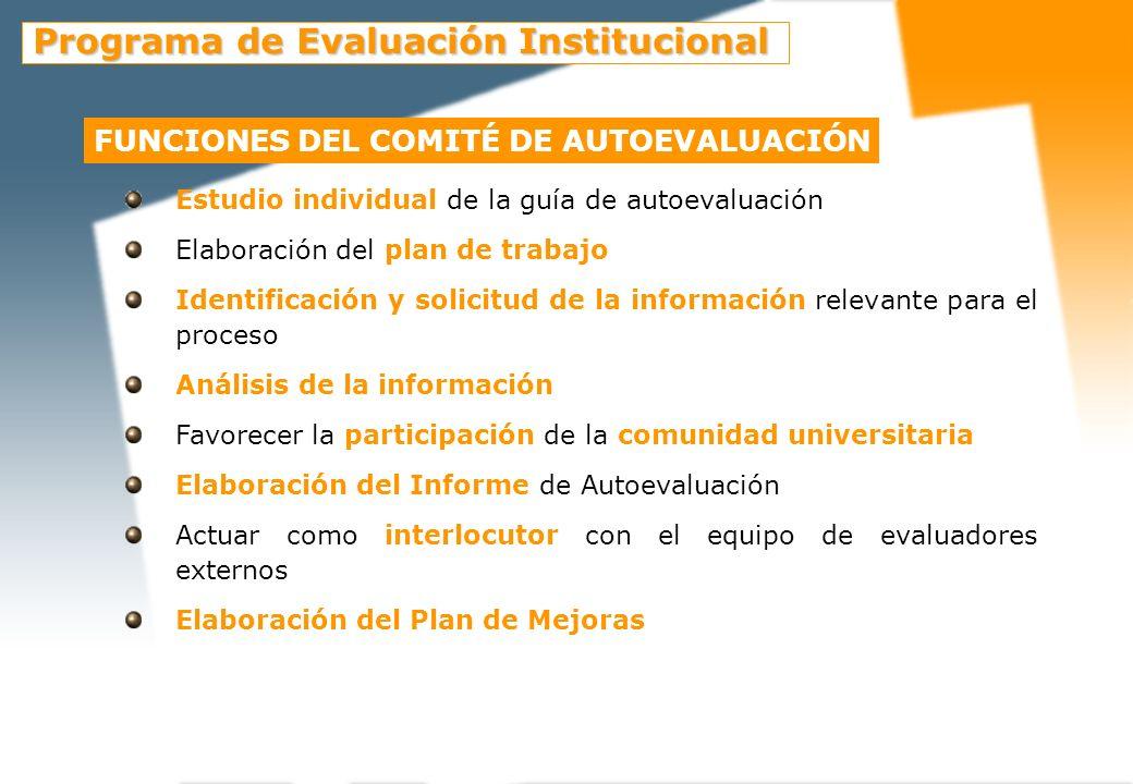Funciones del comité de Evaluación