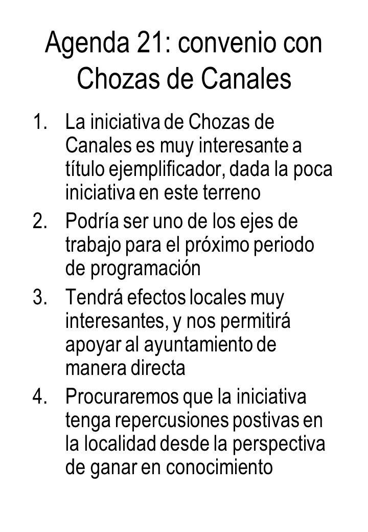 Agenda 21: convenio con Chozas de Canales