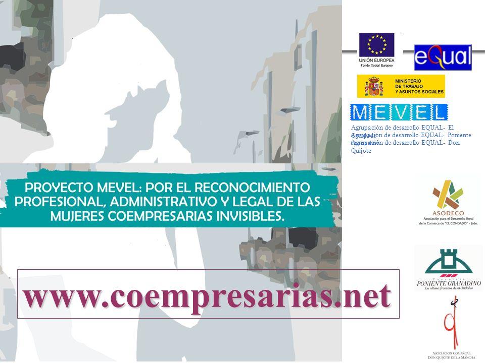 www.coempresarias.net Agrupación de desarrollo EQUAL- El Condado
