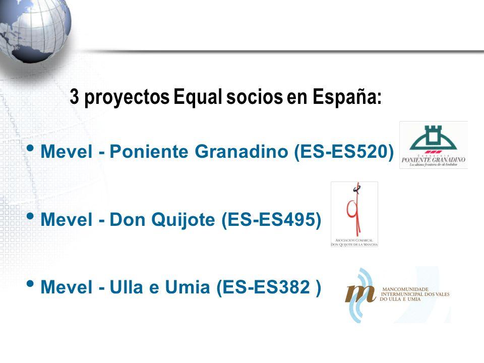 3 proyectos Equal socios en España: