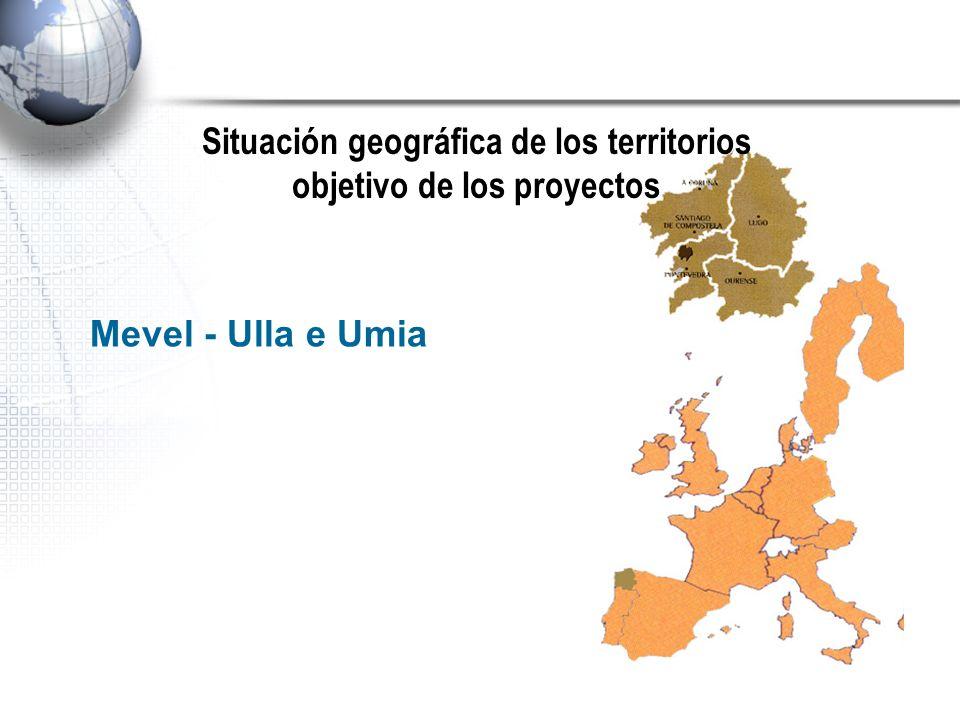 Situación geográfica de los territorios objetivo de los proyectos