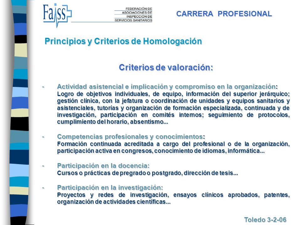 Criterios de valoración: