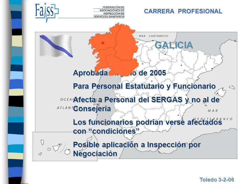 GALICIA Aprobada en julio de 2005