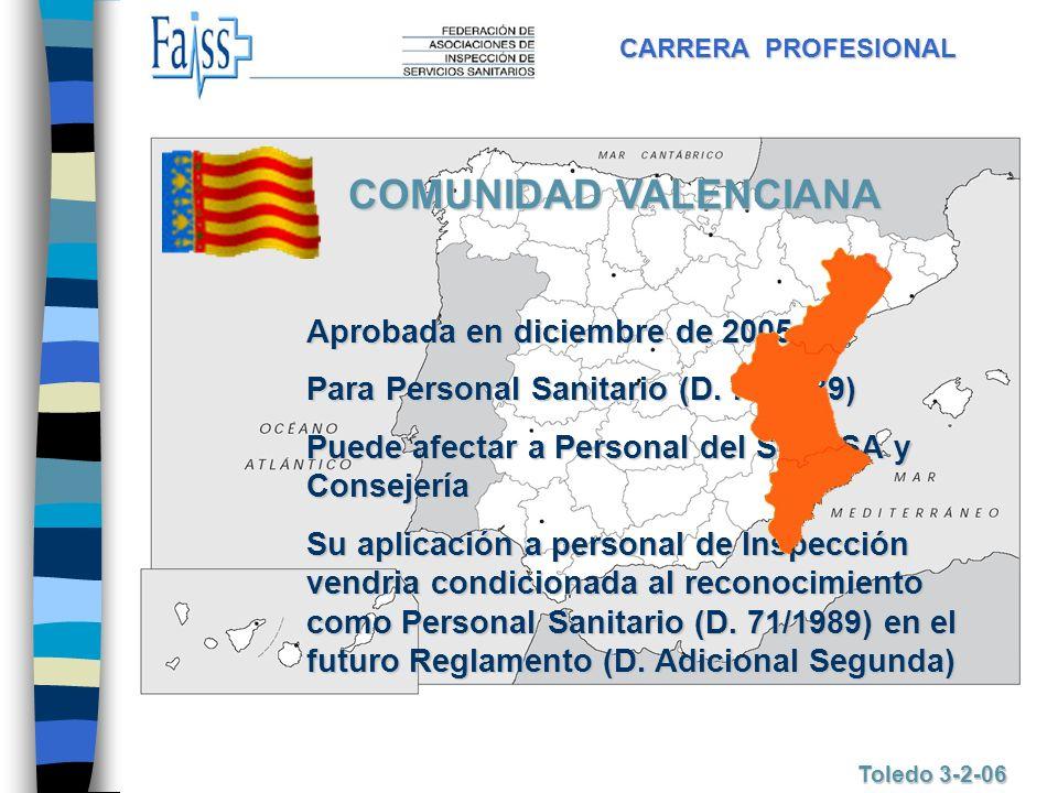 COMUNIDAD VALENCIANA Aprobada en diciembre de 2005