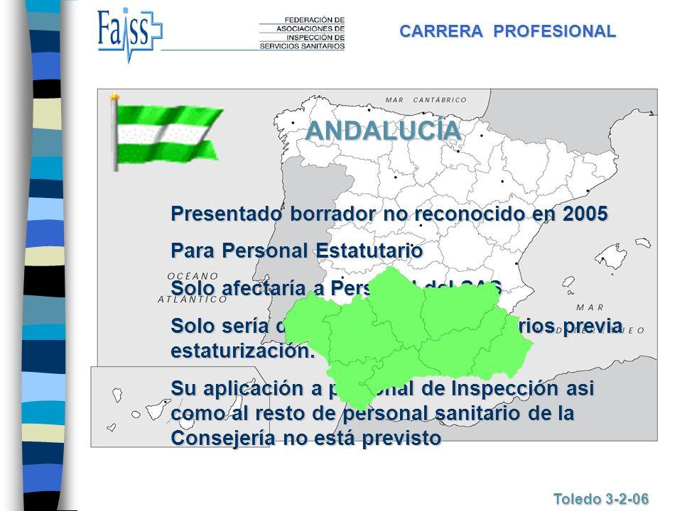ANDALUCÍA Presentado borrador no reconocido en 2005