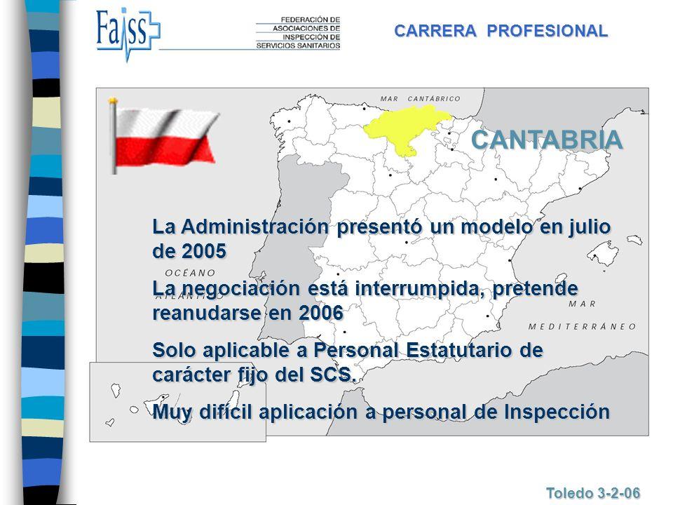CANTABRIA La Administración presentó un modelo en julio de 2005