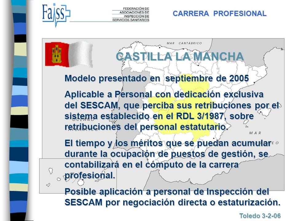CASTILLA LA MANCHA Modelo presentado en septiembre de 2005