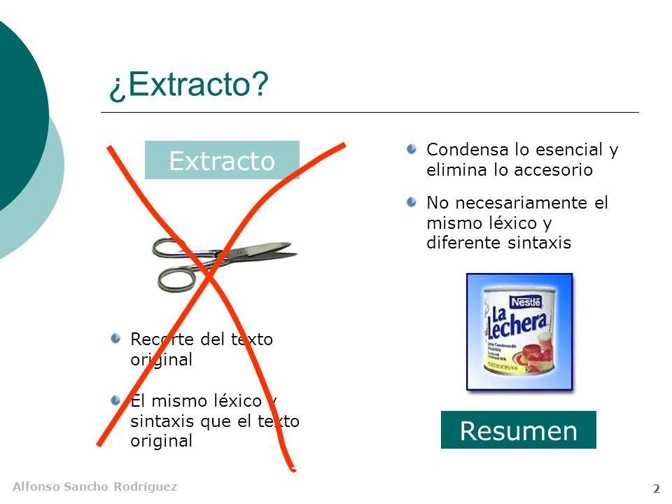¿Extracto Extracto Resumen