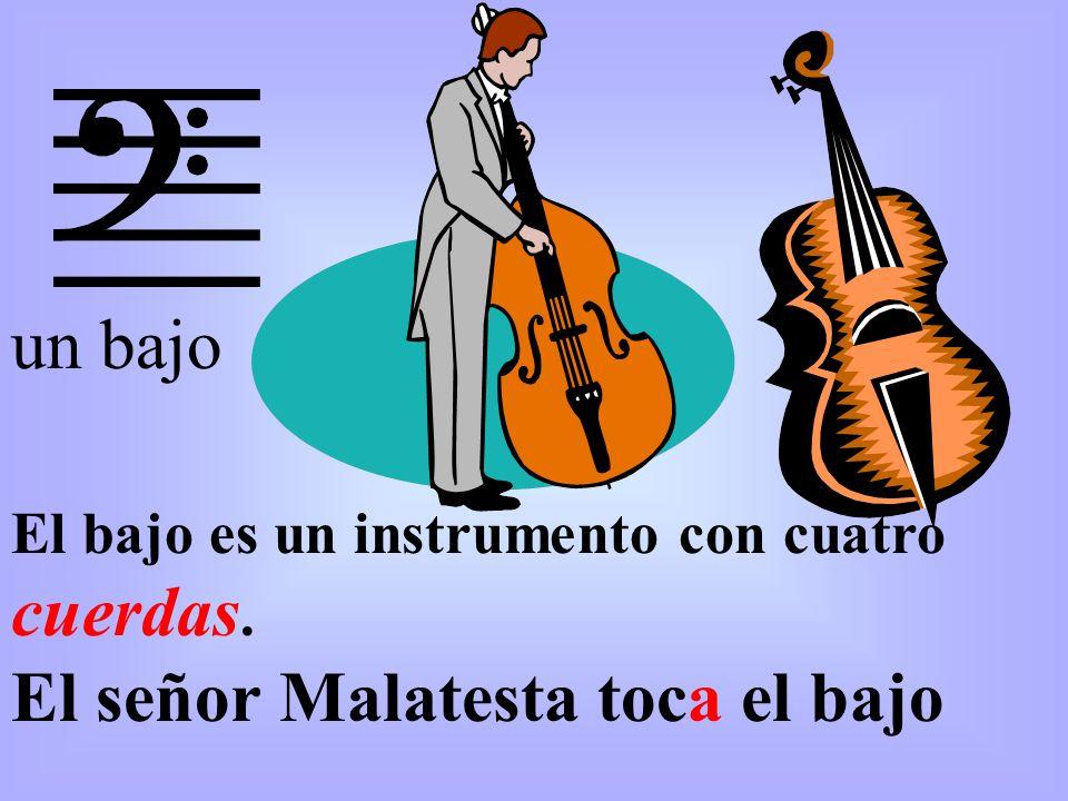 El señor Malatesta toca el bajo