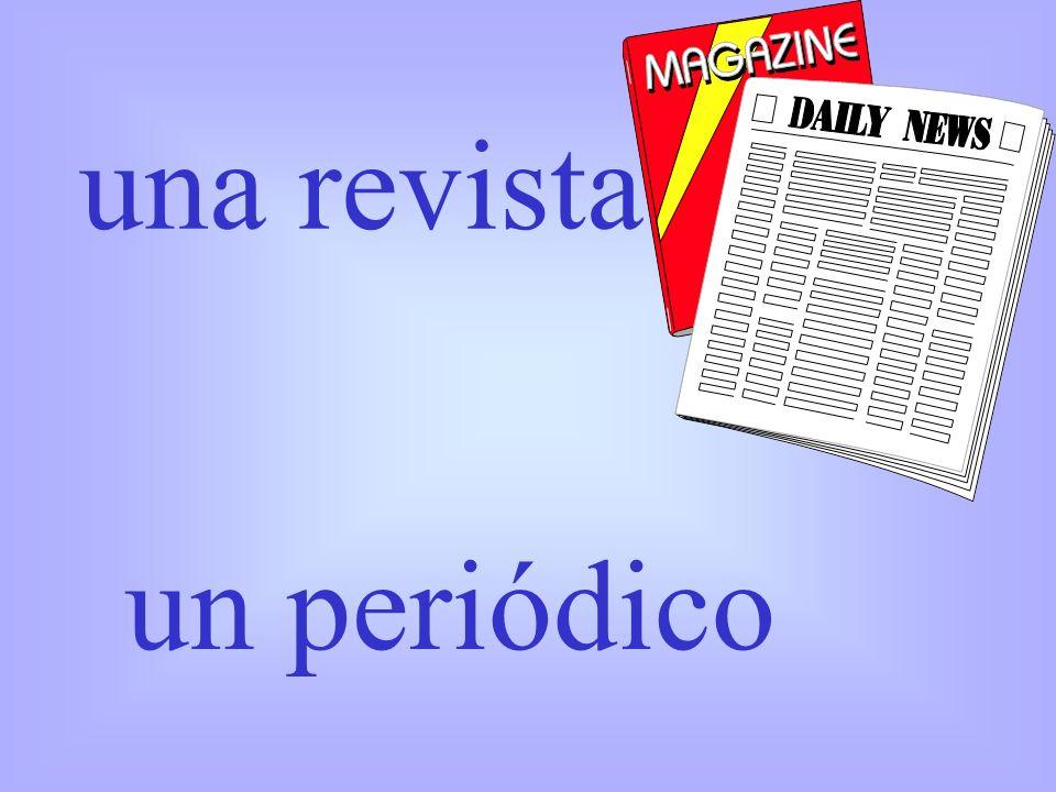 una revista un periódico