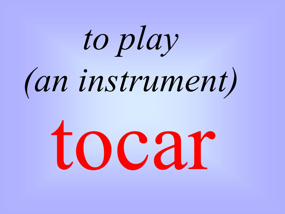 to play (an instrument)