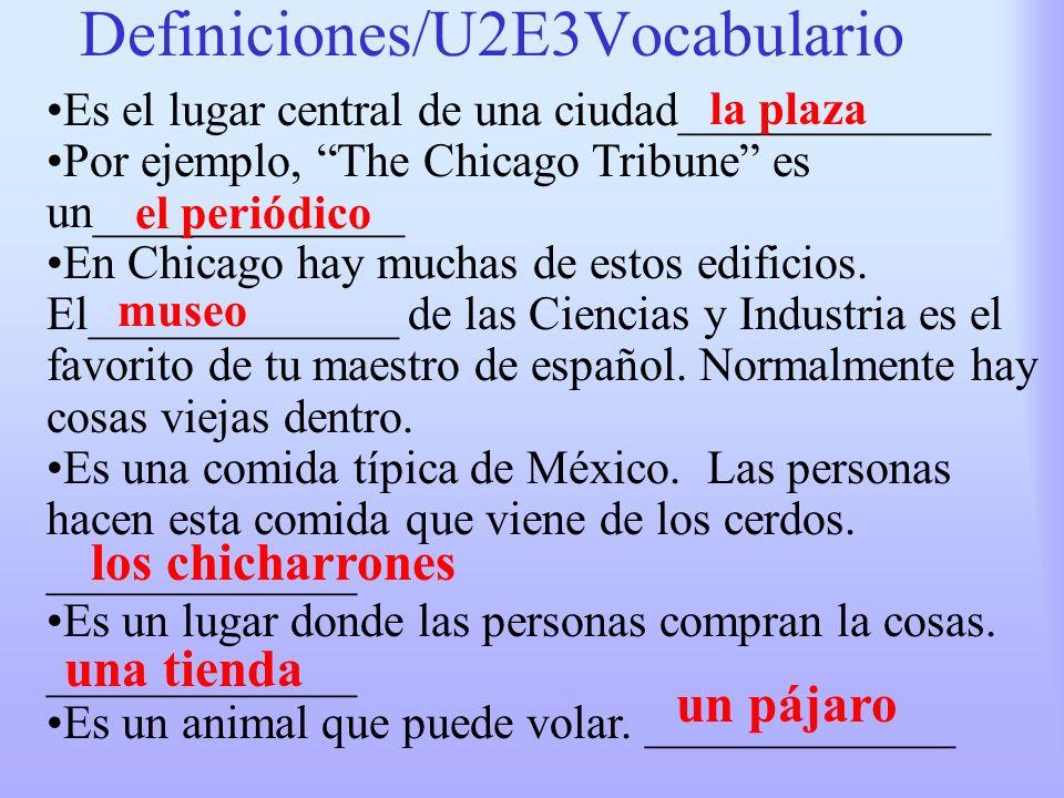 Definiciones/U2E3Vocabulario