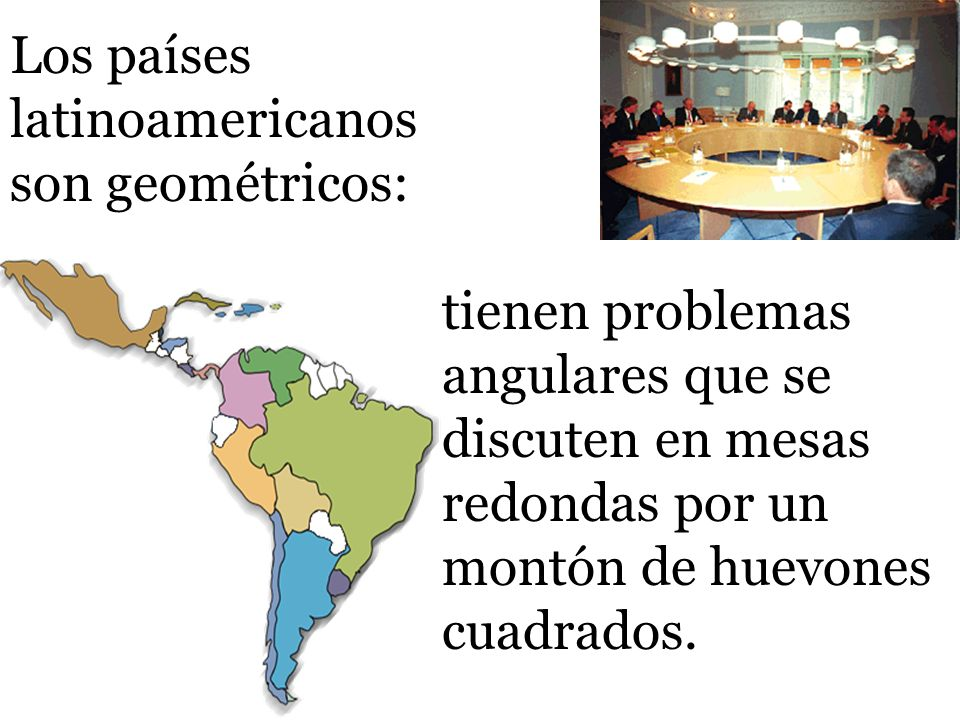 Los países latinoamericanos son geométricos: