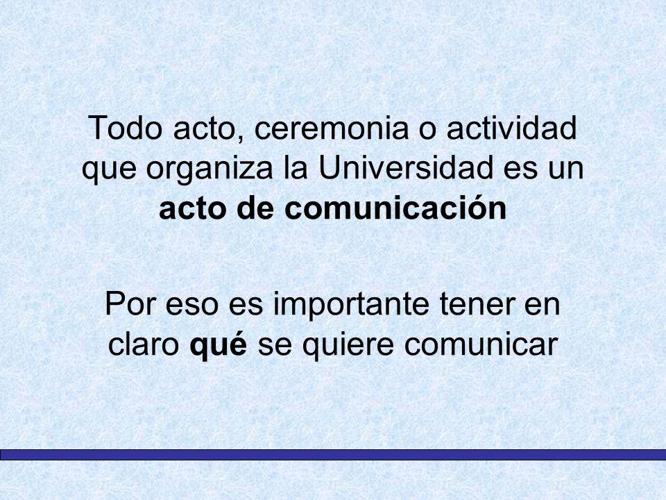 Por eso es importante tener en claro qué se quiere comunicar