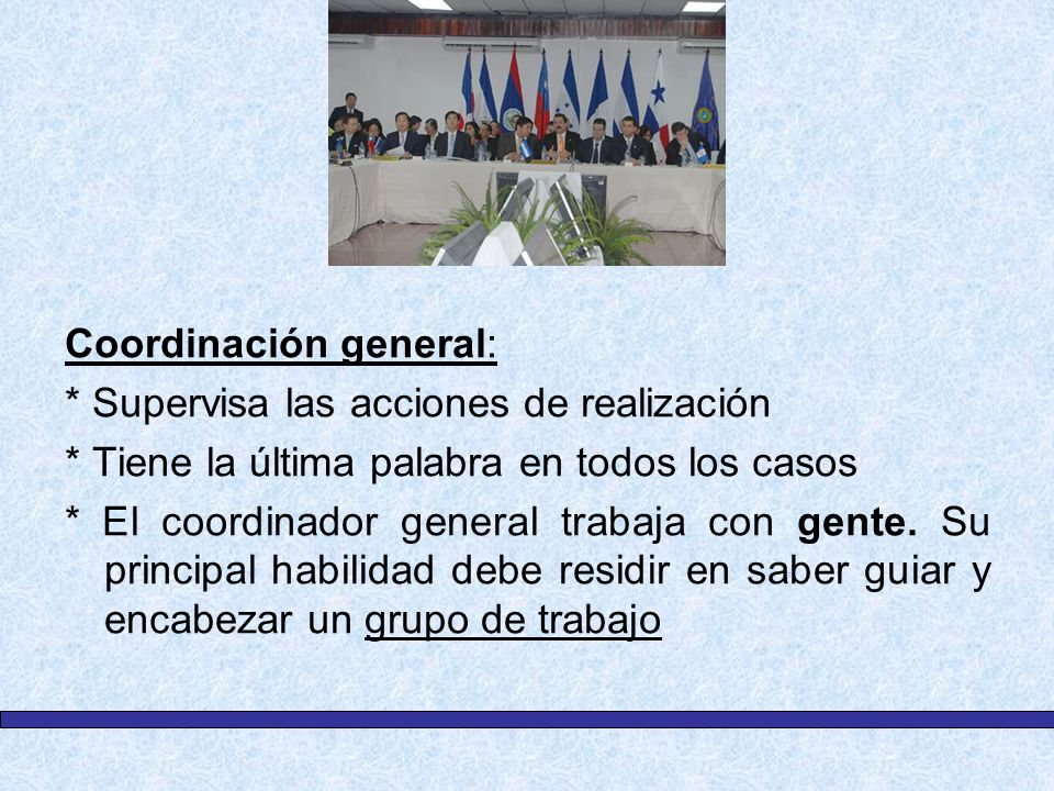 Coordinación general: