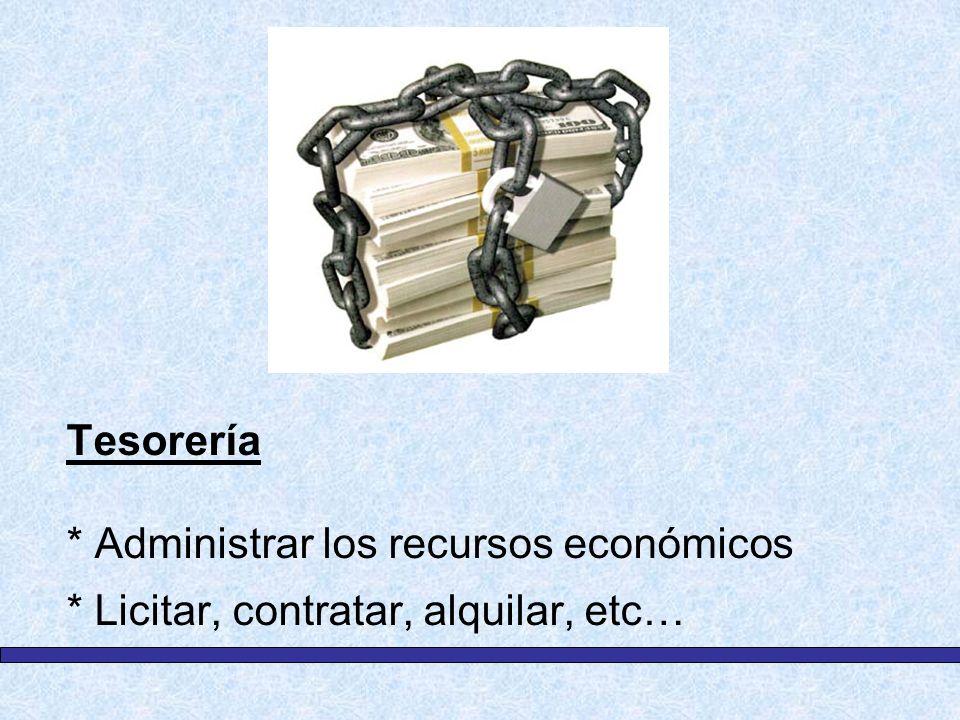 Tesorería. Administrar los recursos económicos