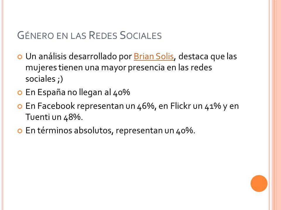 Género en las Redes Sociales