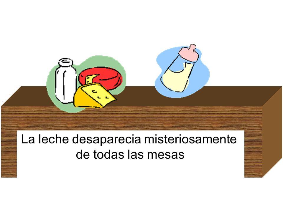 La leche desaparecia misteriosamente