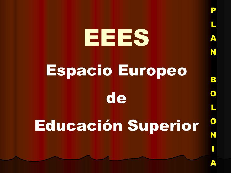 P L A N B O I EEES Espacio Europeo de Educación Superior