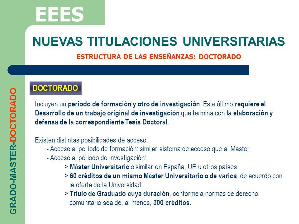 EEES NUEVAS TITULACIONES UNIVERSITARIAS DOCTORADO