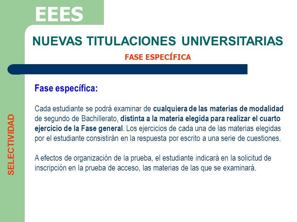 NUEVAS TITULACIONES UNIVERSITARIAS