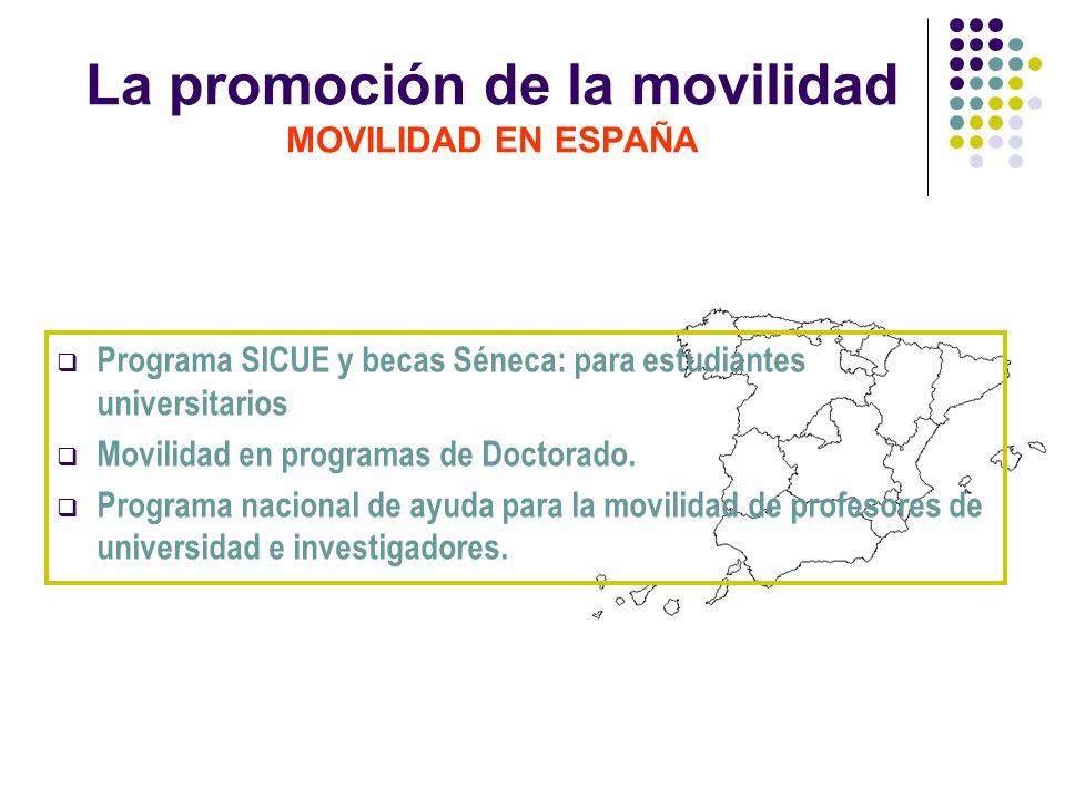 La promoción de la movilidad MOVILIDAD EN ESPAÑA