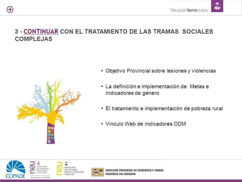 3 - CONTINUAR CON EL TRATAMIENTO DE LAS TRAMAS SOCIALES COMPLEJAS