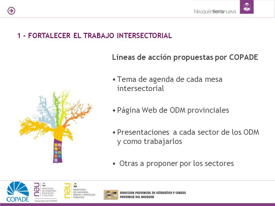 Líneas de acción propuestas por COPADE