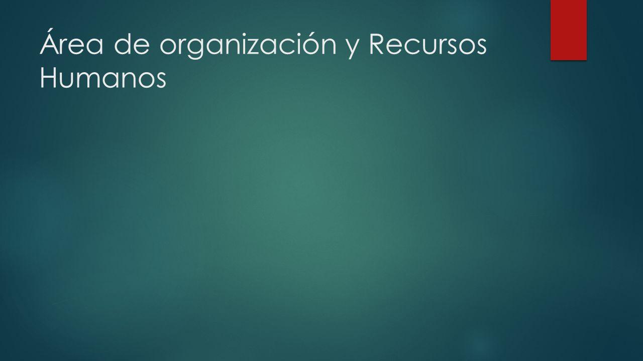 Área de organización y Recursos Humanos