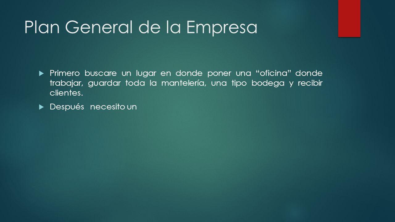 Plan General de la Empresa