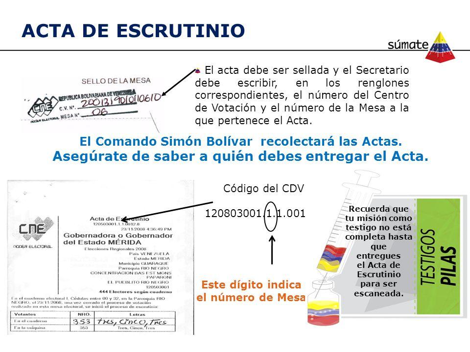 ACTA DE ESCRUTINIO