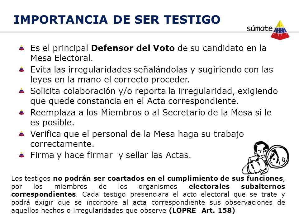 IMPORTANCIA DE SER TESTIGO