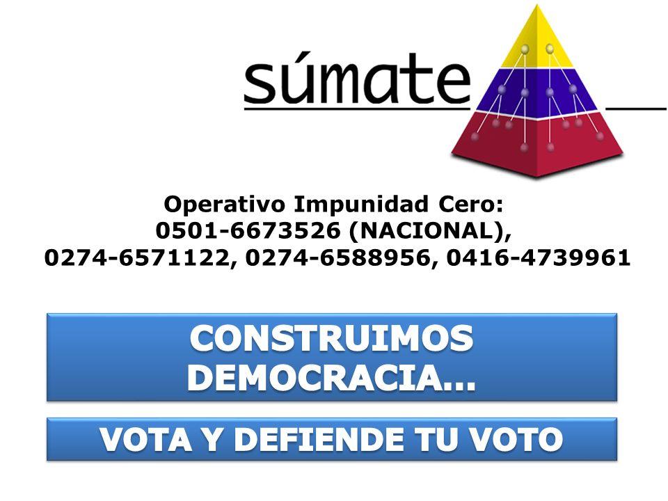 Operativo Impunidad Cero: CONSTRUIMOS DEMOCRACIA…
