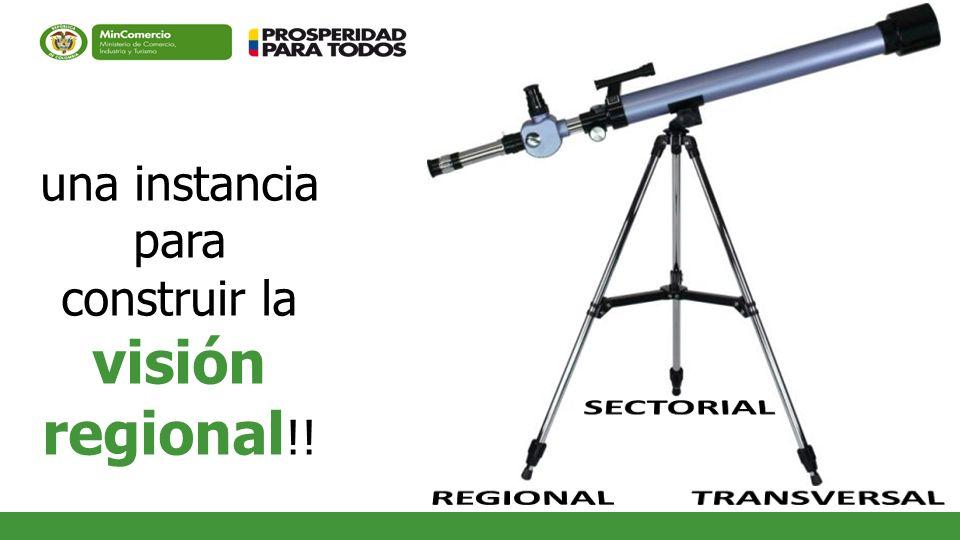 una instancia para construir la visión regional!!