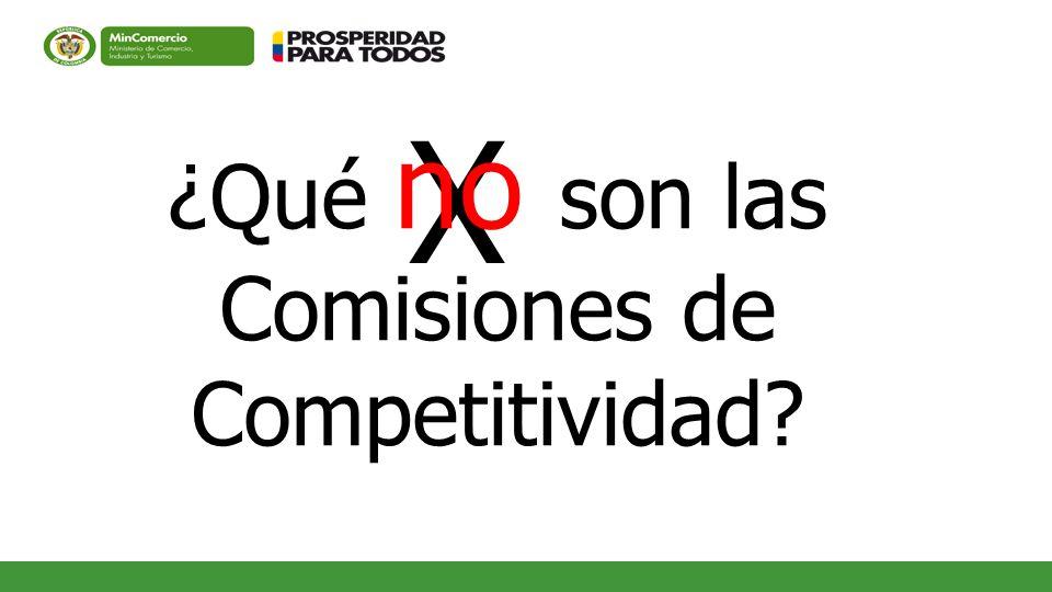 ¿Qué no son las Comisiones de Competitividad