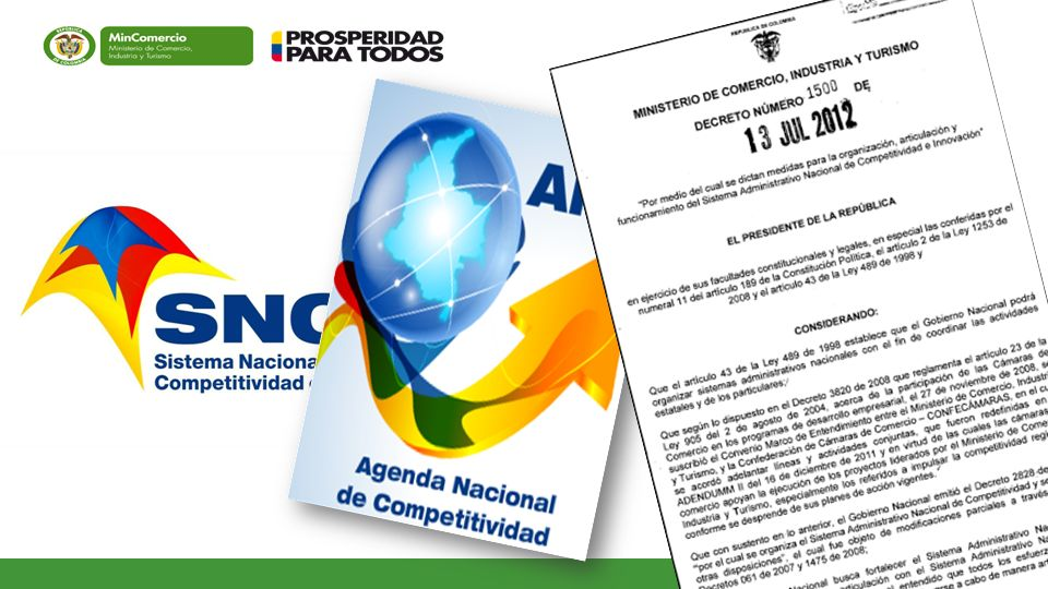 FORTALECIMIENTO SISTEMA NACIONAL DE COMPETITIVIDAD