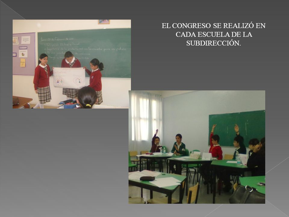 EL CONGRESO SE REALIZÓ EN CADA ESCUELA DE LA SUBDIRECCIÓN.