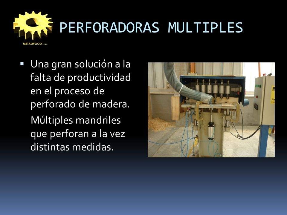 PERFORADORAS MULTIPLES