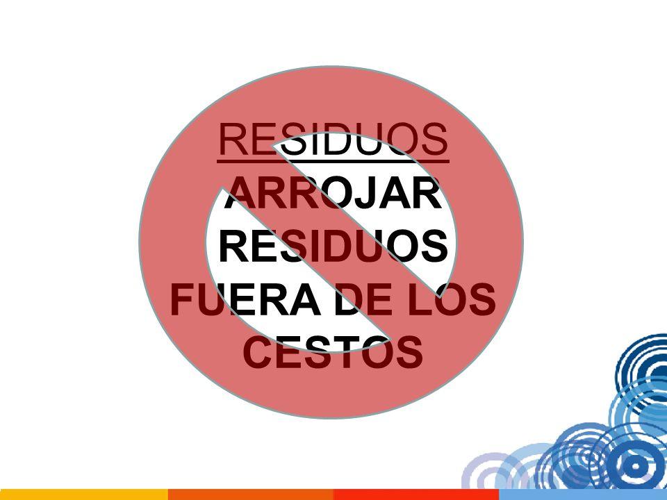 RESIDUOS ARROJAR RESIDUOS FUERA DE LOS CESTOS