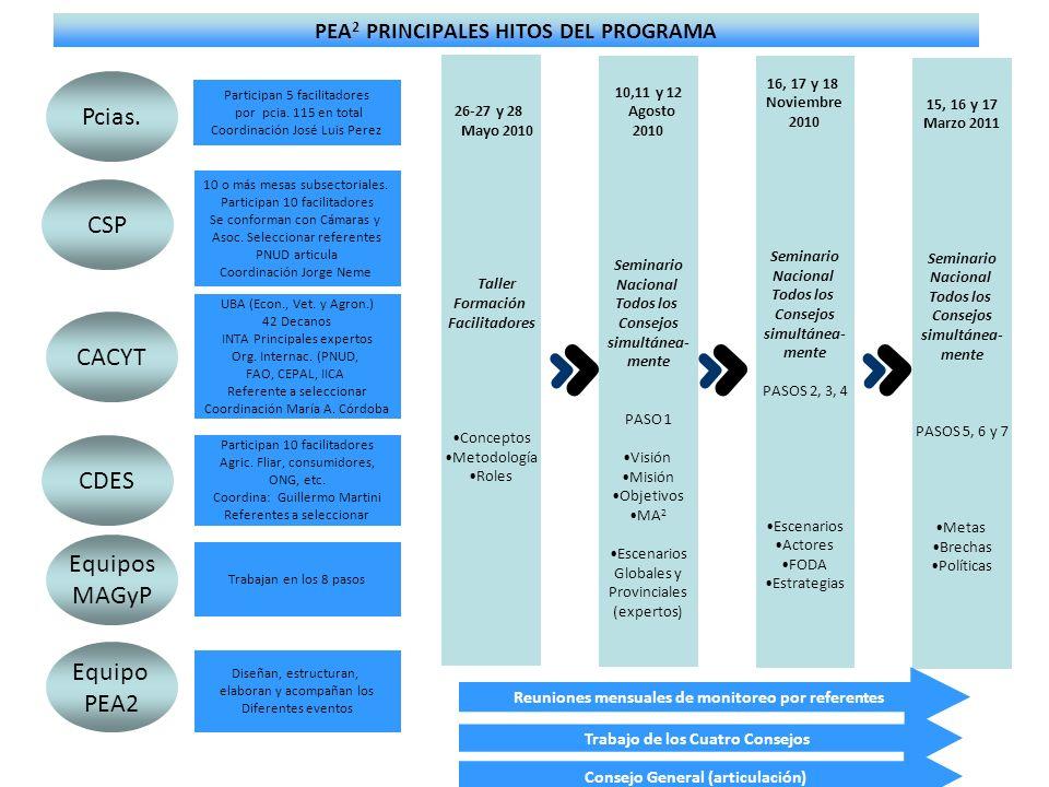 PEA2 PRINCIPALES HITOS DEL PROGRAMA