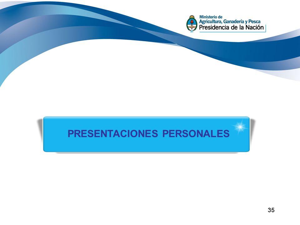 PRESENTACIONES PERSONALES