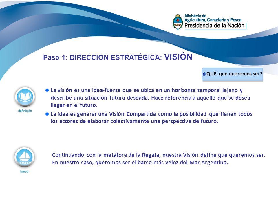 Paso 1: DIRECCION ESTRATÉGICA: VISIÓN