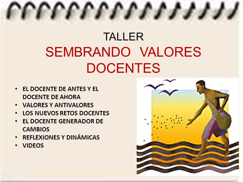 SEMBRANDO VALORES DOCENTES