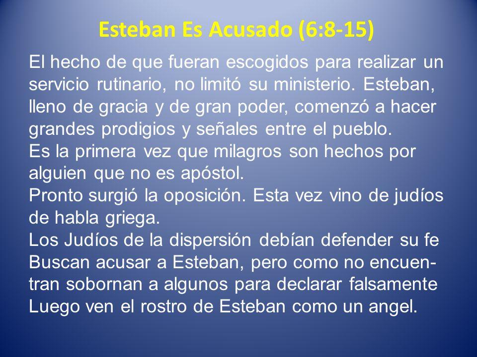 Esteban Es Acusado (6:8-15)