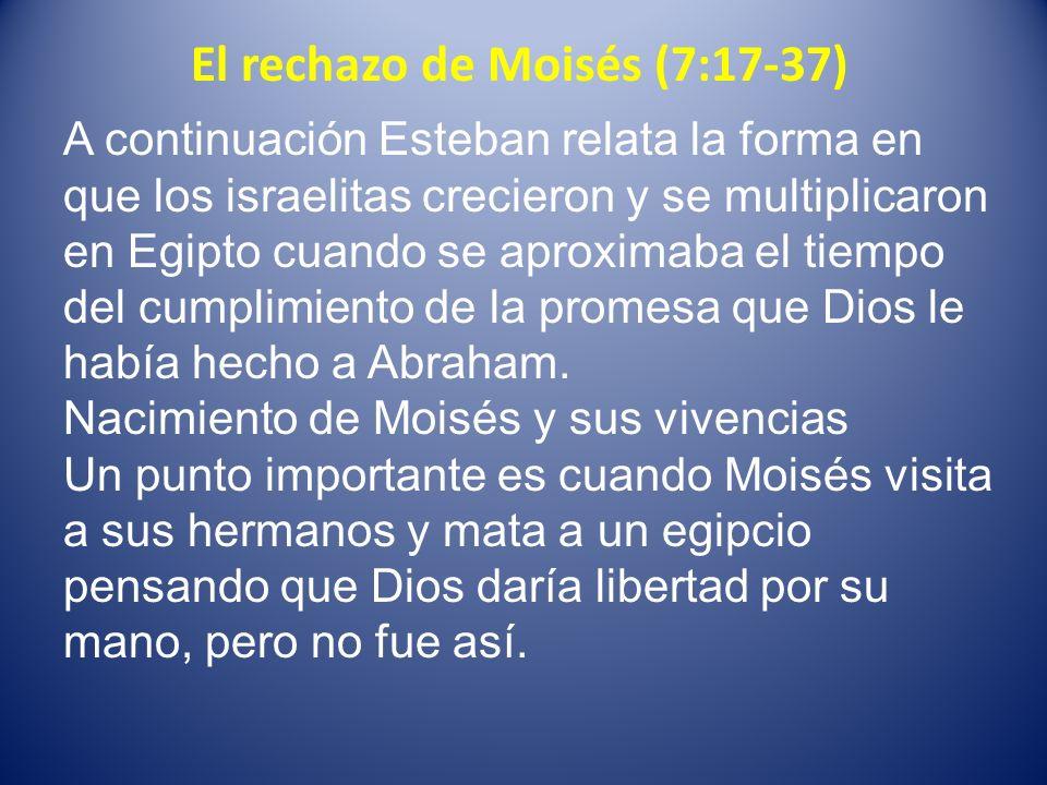 El rechazo de Moisés (7:17-37)